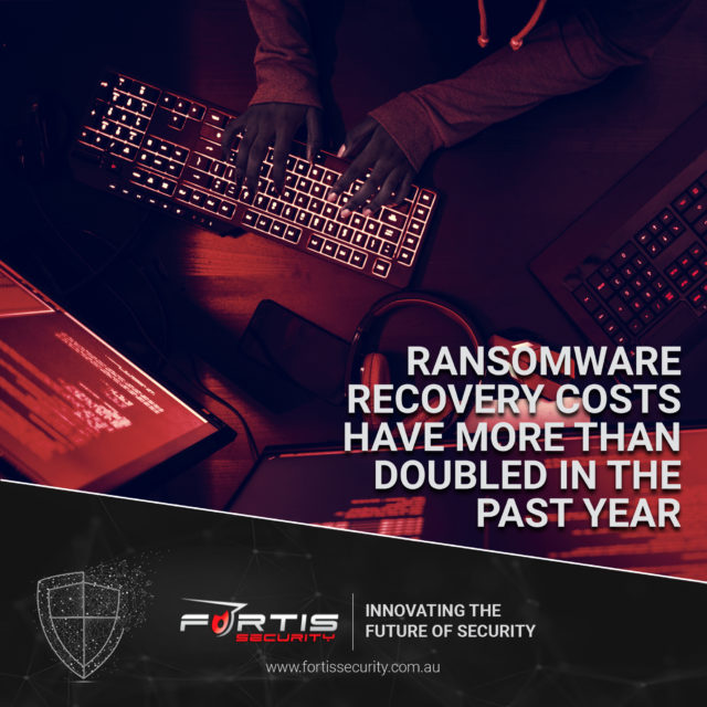 Ransomware recovery costs have more than doubled in the past year