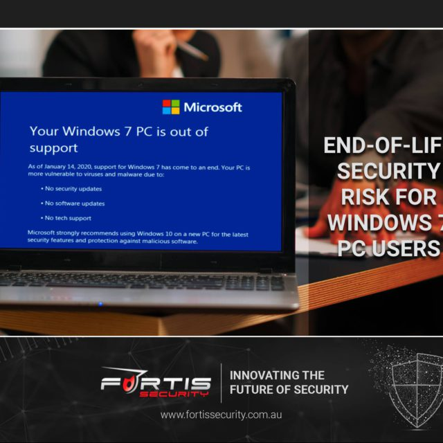 End-of-life Windows 7; Security Risk for PC users