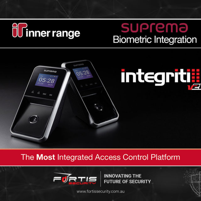 Inner Range integrates Integriti with Suprema Facial Recognition